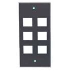 Hubbell Modular 6-Port Face Plate for Work Station Furniture Connectivity Box