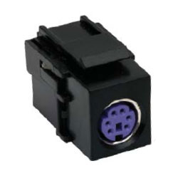 Hubbell PS/2 6-Pin DIN Female / Female Mouse Pass-Thru Coupler