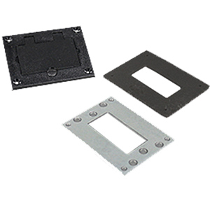 Nonmetallic GFI Cover Plate, Black