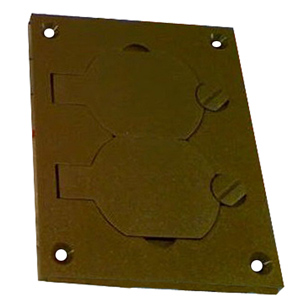 Legrand - Wiremold Nonmetallic Duplex Cover Plate, Brown