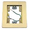 Rectangular Flat Flange, 1-Gang, Brass