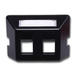 Hubbell Infin-e-Station Furniture Plate - 2 Port