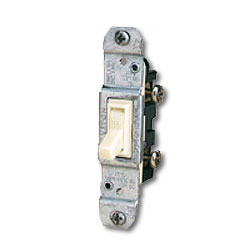 Leviton Quickwire and Side Wired Framed Single-Pole, Less Ears with Grounding Screw