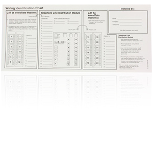 Leviton Replacement Port ID Wiring Identification Chart Labels for 18P