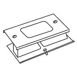 Legrand - Wiremold 3000® Series Rectangular Receptacle Cover