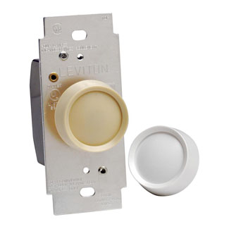 Leviton Trimatron Deluxe Push On/Off Electro-Mechanical Single-Pole Incandescent Rotary Dimmer