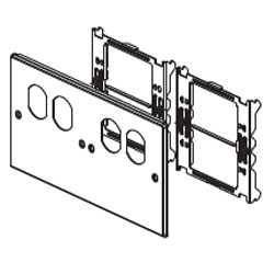 Legrand - Wiremold 6000/4000® Series Four-Gang Overlapping Cover with Two Duplex Openings
