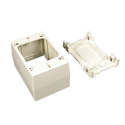 Legrand - Wiremold 400/800/2300/2300D Series™  One-Gang Extra Deep Device Box Fitting, White