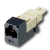 Mini-Com FJ Opti-Crimp W-Keyed Duplex Jack Black Module 62.5/125um