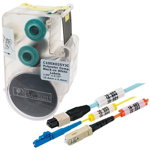 P1 Continuous Polyolefin Tape Cassettes for Hand-Held Thermal Transfer Printers, Black on White