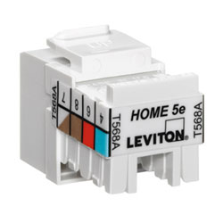 Leviton HOME Category 5e QuickPort Snap-in Connector