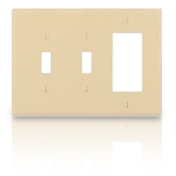 Leviton 3-Gang Midway Size Nylon Wallplate