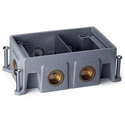 OmniBox Series Two-Gang Stamped Steel Floor Box