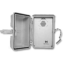 Allen Tel Single Number Dialer Outdoor Speakerphone with Stainless Steel Hasp