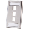 3 Port Single Gang Stainless Steel Faceplate