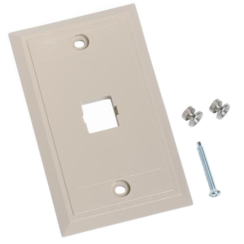 L Series Single Port Flush-Wall Mount Telephone Faceplate