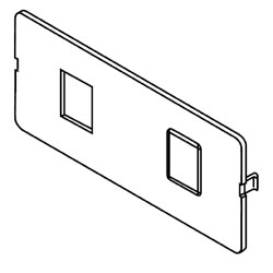Legrand - Wiremold 5507 Series™ Dual RJ11 / RJ45 Connector Faceplate