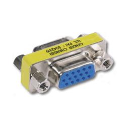 Hubbell AV Connector, 15-Pin Gender Changer, Female/Female Coupler (Pkg. of 10)