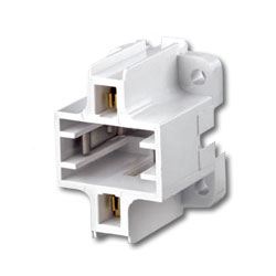 Leviton 10mm Compact Vertical Bottom Snap-In Fluorescent Lampholder