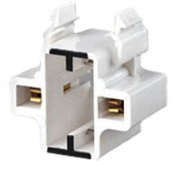 Leviton 10mm Compact Fluorescent Lampholder for GX23 and GX23-2 Lamp Bases