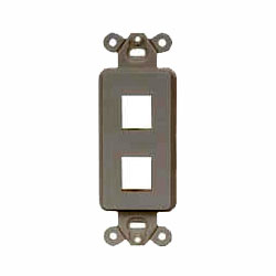 Hubbell 2-Port Outlet Frame Unloaded (Package of 10)