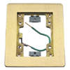 Rectangular Flat Flange, 1-Gang, Brass