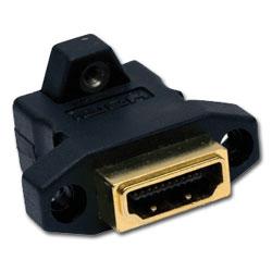 Hubbell AV Connector, HDMI Female/Female, Gold Coupler