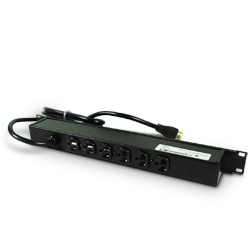 Rack Mount Plug-In Outlet Center® with Six 20 Amp Rear Outlets and On/Off Switch