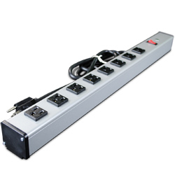Industrial 24 Inch Plug-In Outlet Center® with 8 Outlets and Lighted Switch