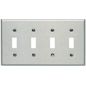 Oversized 302 Stainless... Leviton 84119-40 1-Gang No Device Blank Wallplate