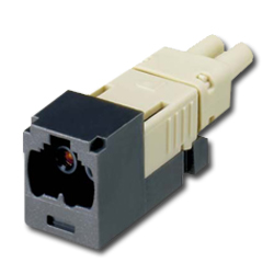 Panduit® Mini-Com FJ Opti-Crimp W-Keyed Duplex Jack Black Module 62.5/125um