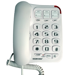 Big Button Phone with Speakerphone (White)