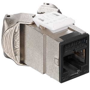 Leviton Atlas-X1 Cat 6A Shielded QuickPort Jack Component-Rated