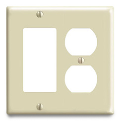 Leviton Urea Combination 2 Gang Wallplate (1 Duplex/1 Decora/GFCI)