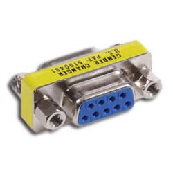 Hubbell AV Connector, 9-Pin Gender Changer, Female/Female Coupler (Pkg. of 10)