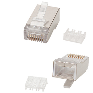 Allen Tel 8x8 Shielded Modular Plug for Rounded Cord (Bag of 50)