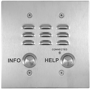 2 Button Double Gang Mounted VoIP Emergency Phone