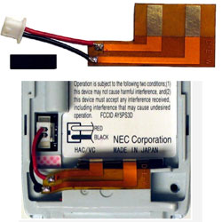 NEC Dterm PSIII Wireless Handset Phone Battery Flexible Circuit Connector