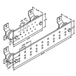 Chatsworth Products Busbar Kit, Wall-Mount