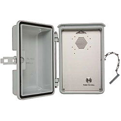 Allen Tel Outdoor Speakerphone with Tone Dial And Stainless Steel Hasp