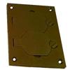 Nonmetallic Duplex Cover Plate, Brown