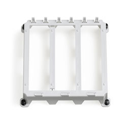 Leviton Plastic Mounting Half Width Bracket-ABS White Plastic-3 Single Bays