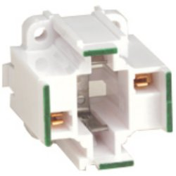 Leviton 10mm Compact GE Lighting Double Biax 18W 2-Pin Screw Down Fluorescent Lampholder (Pkg of 100)