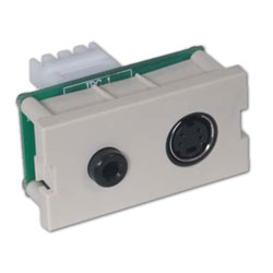 Hubbell Infin-e-Station Module - S-Video and 3.5mm Stereo Audio Jack to 110 Termination