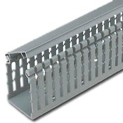 Panduit® Type HN Hinged Narrow Finger Slotted PVC Wiring Duct (6'), Light Gray