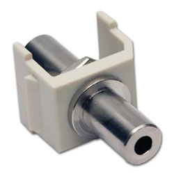 Hubbell Snap Fit 3.5mm Feed-Thru Stereo Jack