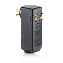 Leviton 15Amp Compact Automatic Reset Right Angle Outdoor Rated RoHS Compliant GFCI Module