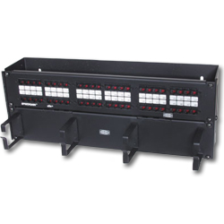 Hubbell SPEEDGAIN Universal 48 Port Hinged Patch Panel (T568A/T568B)