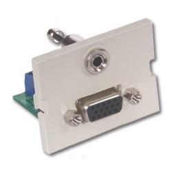 Hubbell Infin-e-Station Module - 15-Pin VGA 3.5mm Stereo Jack, 1.5 Unit