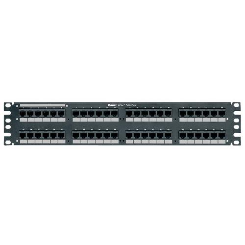 48-Port  DP6™ 10GIG™ Angled Patch Panel, Black